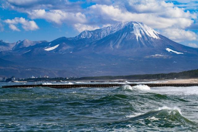 大山と日本海