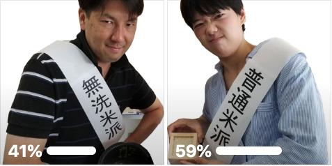 無洗米と普通米の人気投票アンケートを実施しました。