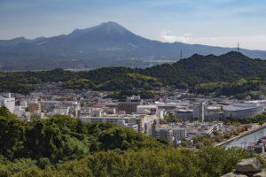 米子城山からみた大山